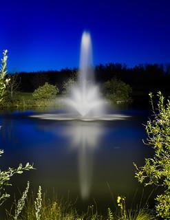 Blue Hour Fountain