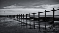 Groovy Groynes... (Chilli Dawg) Tags: groynes dawlishwarren devon southwest westcountry seaside seascape shore sky cloud mono blackandwhite