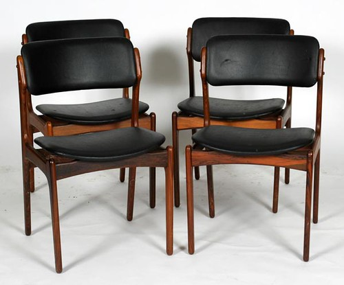 Set of 4 Mobler Erik Buck Danish Chairs ($308.00)