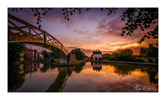 Morning Glory (Ken Walker Photography) Tags: morning sunrise water reflections sky waterways morningglow redsky suttonstop canals