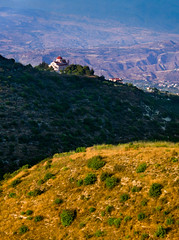 Church perch (snowyturner) Tags: cyprus layers church theletra sunset light mountains troodos paphos