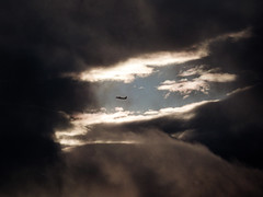 The Eye of the Storm (Steve Taylor (Photography)) Tags: eyeofthestorm newzealand nz southisland canterbury christchurch northnewbrighton plane aeroplane aircraft cloud weather sky stormy