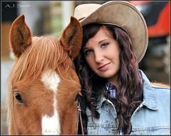 Elizabeth Bennet:  Western (Images by A.J.) Tags: horses horse woman eye hat female model eyes women cowboy jean jeans western editorial denim equestrian equine