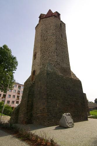Wieża dziobowa w Strzegomiu od zachodu