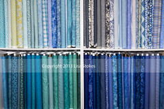 The Blues (Lisa-S) Tags: blue toronto ontario canada store lisas fabric quilting bolts neat shelves organized invited 5278 flickropen sewsisters copyright2013lisastokes getty2013 getty20130411