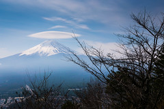 Winter ends (notjustnut) Tags: travel mountain lake japan landscape fuji traveller fujisan ropeway mtfuji kawaguchilake