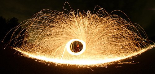 Steelwool fisheye hole