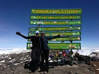 Lindey and Lorraine at the summit