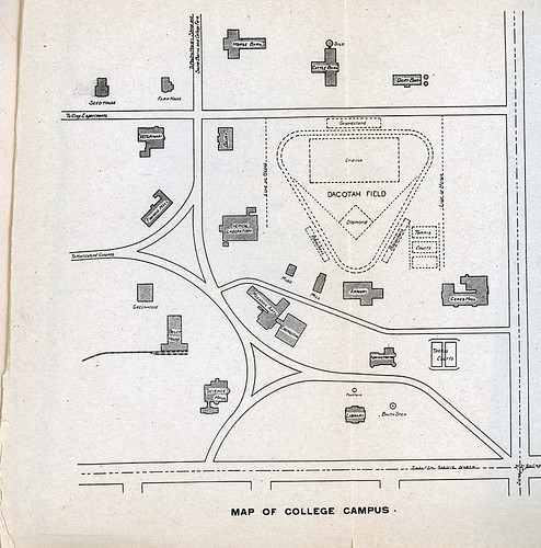 North Dakota Argricultural College(North Dakota State University) campus map, 1919