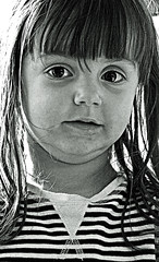 Portrait (BW) (Cropped)  (Nikon D7100 - High ISO) (markdbaynham) Tags: light portrait bw white black girl monochrome digital high nikon child natural iso cropped format dslr sensor dx apsc d7100