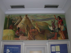 Neodesha, Kansas Post Office Mural (jimmywayne) Tags: mural postoffice historic kansas wilsoncounty newdeal neodesha