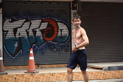 9009 Keep your money dry (Mishel Breen) Tags: road street new travel girls boy party people holiday men guy wet water festival children asian fun thailand happy dance women colorful asia gun shoot child play south traditional year culture happiness tourist spray east celebration event thai aim tradition splash cheerful celebrate throw throwing attraction breen pattaya songkran splashing aiming mishelbreen