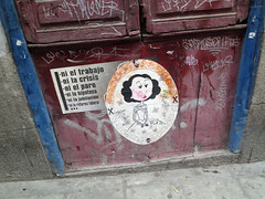 Olivia (Daquella manera) Tags: madrid street pasteup art up poster olivia wheatpaste paste ni lavapis lavapies generacion