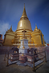 The Golden Pagoda of Wat Phra Kaew. (baddoguy) Tags: world travel heritage architecture thailand gold golden pagoda ancient king tour place bangkok culture royal images grandpalace thai jedi getty destination wat throne gettyimages phrakaew chakri gettyimagesstock