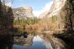 Mirror Lake 2 (Elentari86) Tags: california usa mountains reflection america mirror nationalpark scenery sierra halfdome yosemitenationalpark mountwatkins ahwiyahpoint