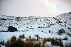 Snowy Cwm Penmachno (Saturated Imagery) Tags: mountain snow film wales 35mm slidefilm e6 conwy moel canoneos300 cwmpenmachno kodakektachrome100g