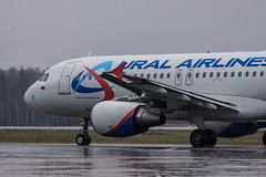 Ural again (n_dunaev) Tags: airplane spring airport russia moscow aircraft airbus april airlines spotting dme aiport ural planespotting domodedovo uralairlines