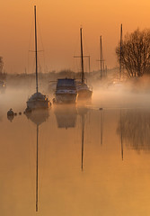 Postcards from Dorset........ (Chrisconphoto) Tags: uk mist sunrise boats mood atmosphere dorset wareham goodlight