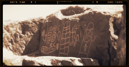 Petroglyphs that look like graffiti?