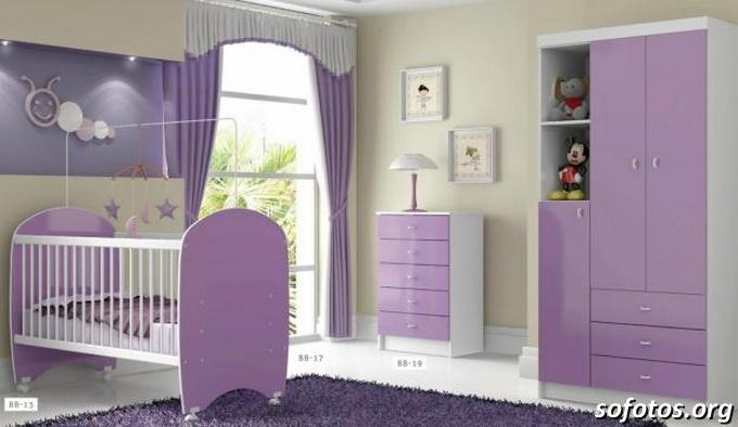 quarto de bebe feminino lilas