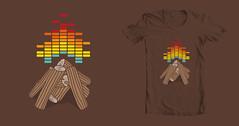 Crackling Fire (haasbroek) Tags: art illustration fire design sound threadless simple tee vector equaliser jacohaasbroek