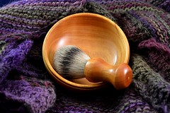 bowl and brush (Don and Monica Riney) Tags: wet bowl brush safety shaving badger shave straight razor