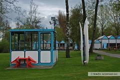 DLRG-Station / lifeguard station (Howdys) Tags: station deutschland see lautsprecher wiese himmel grn blau tisch bume sthle htten badenwrttemberg freibad kabine aulendorf birken oberschwaben steeger surfbretter