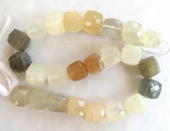 multi moonstone faceted cube beads3 (GemaliciousBeads) Tags: white strand beads gray peach 8mm multicolor moonstone 7mm facetedcubes
