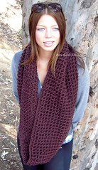 brown infinity cowl scood scarf (Ava Girl Designs) Tags: brown scarf infinity womens mens neutral cowl scood avagirldesigns