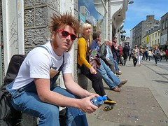 Red Shades (Oceanraider........ On & Off for summer :)) Tags: street red portrait musician galway sunglasses musicians hair candid streetphotography streetlife streetperformer redhair streetentertainer galwaycity