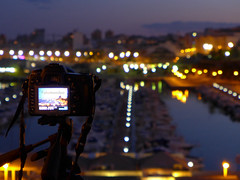 A Little Bit of Compact Camera Bokeh (Ricardodaforce) Tags: espaa valencia port puerto lights luces spain bokeh harbour alicante campello lx7 elcampello lumixlx7 panasoniclumixlx7