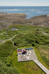 20130506D8E_3366 (cisco42) Tags: ocean trees summer lighthouse canada sunshine forest coast bc britishcolumbia shoreline rocky vancouverisland northamerica saltwater headland canadiancoastguard estevanpoint messerschmittboelkowblohmmbbbo105 lightstation2013 estevanlightstation