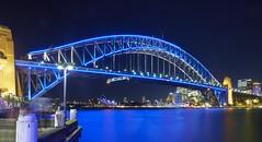 Sydney Harbour Bridge  VIVID 2013 (Glen Hughes) Tags: 1424mm d800e