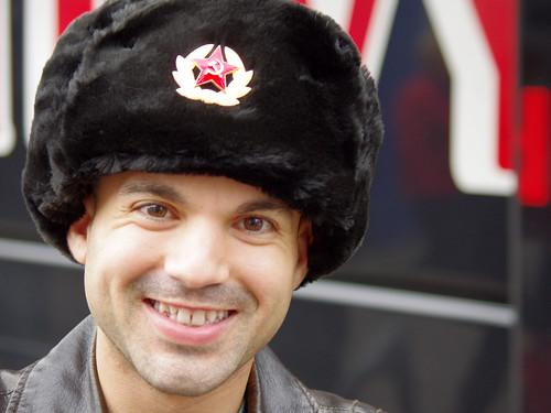 hat fur soldier american soviet russian berlinwalk