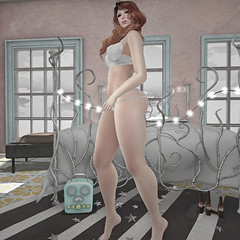 Caught Dancing... (Apple aka Ossia) Tags: belleza slink swallow pink fuel magika foxes nomad fetch tarte boobs butt thighs pretty avatar second life sl blog scarlet creative ginger red hair fun