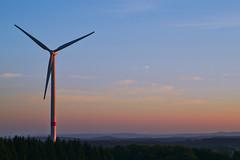The Winds of Summer (Matthias J.W.) Tags: windturbine windmill energy westerwald fuchskaute sunset evening germany
