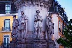 Praa Lus de Cames (Biolchini) Tags: portugal lisbon lisboa chiado architecture statue praa cames square largo marcelobiolchini