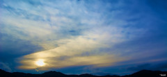 There, in the distance (Blas Torillo) Tags: libres puebla mxico mexico paisaje landscape sol sun puestadesol sunset amarillo yellow azul blue nubes clouds rayosdesol sunrays contraluz silhouette belleza beauty fotografaprofesional professionalphotography fotgrafosmexicanos mexicanphotographers nikon d5200 nikond5200