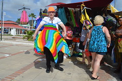 Randolfe Wicker aka Randy Wicker shopping for rainbow LGBT pride flag color sun dress at Marigot Straw Market Collectivité de Saint-Martin France French side of the island of Saint Martin FWI French West Indies (RYANISLAND) Tags: france french saintmartin stmartin saint st collectivity martin collectivityofsaintmartin collectivité collectivitédesaintmartin marigot frenchcaribbean frenchwestindies thecaribbean caribbean caribbeanisland caribbeanislands island islands leewardislands leewardisland westindies indies lesserantilles antilles caribbees