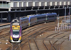 VL06 and VL33 depart Melbourne on an afternoon Wendouree service (bukk05) Tags: 1206 railpage:class=204 railpage:loco=1206 rpauvicvlocity rpauvicvlocity1206 vl06 vl33 vline vlinepassenger vlocity vlclass 1106 winter explore export engine railway railroad railpage rp3 rail railwaystation railwaystations railmotor railcar train tracks tamron trains tamron16300 travel yard photograph photo passenger passengertrain loco locomotive horsepower hp flickr wendouree diesel dmu station sss southerncrossstation spencerstreetstation scs australia zoom docklands doubleslippoints points canon60d canon cumminsqsk7818 victoria vr victorianrailway victorianrailways broadgauge bg bombardier melbourne ptv publictransportvictoria 2016 signal