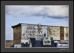 Bavarian Bakery Ghost (the Gallopping Geezer 3.8 million + views....) Tags: sign signage ghostsign faded worn building structure ad advertise advertisement bavaraianbakery food eat escanaba mi michigan upperpeninsula clouds sky canon 5d3 tamron 28300 geezer 2016