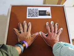 Our Hands in Nelson Mandela Hand Casts (lesterpearce) Tags: joburg johannesburg mandela maropeng maropengmuseum