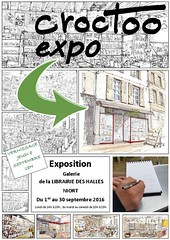 A Niort, du 1er au 30 septembre 2016 (Croctoo) Tags: croctoo croquis croctoofr crayon aquarelle watercolor expo niort librairie