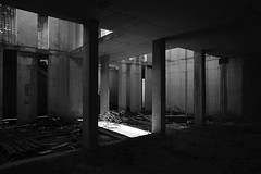 dietro lo schermo - behind the screen (francesco melchionda) Tags: cavtat blackwhite abandoned decay decadence urbex urbanexploration ruins