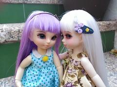 Chispita and Cosita (kao_chanita) Tags: bjd doll artistdoll cosita chispita resin cute stock yosd tiny knkdolls kennokokoro