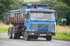 Volvo FL7 Skip Loader R252 TPX (SR Photos Torksey) Tags: truck transport haulage hgv lorry lgv logistics commercial road vehicle freight traffic volvo fl7 skip loader