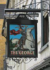 The George Inn, Southwark, London, England (Amethinah) Tags: 2013 uk unitedkingdom greatbritain england london southwark thegeorge pub inn shakespeareslocal dickens thegeorgeinn stgeorge pubsign