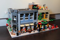 #LEGOPDC & Bookstore International (brickbuilder711) Tags: lego modern modular building city town train bookstore cafe cuban coffee window corner miami florida