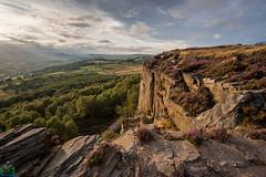 Millstone Edge (James G Photography) Tags: uploadedviaflickrqcom millstoneedge millstone heather peaks peakdistrict derbyshire sunset trees hathersage hopevalley cliff gritstone light overowlertor