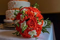 Wedding Cake and Flowers (mattpacker1978) Tags: cake wedding flowers love marrige life family beautiful forever day roses flower canon 28105 dslr digital 700d floral green pretty gorgeous lovely smells